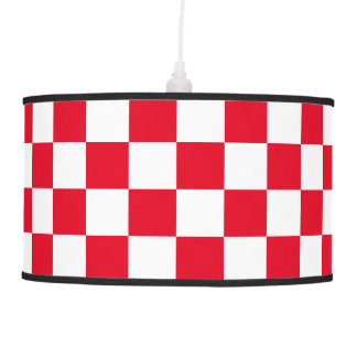Red Checkered Pendant Lamp