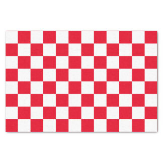 Red Checkered Tissue Paper