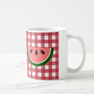 Red Checkered Watermelon Mug