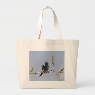Red cheeked Cordonbleu (Uraeginthus bengalus) Large Tote Bag