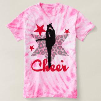 Red Cheerleader girls tie dye shirt