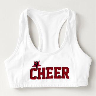 Red Cheerleader sports bra
