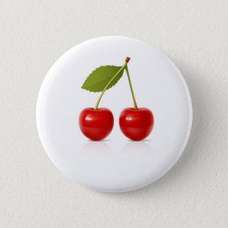 Red Cherries 2 Inch Round Button