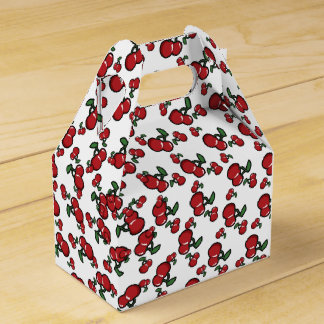 Red Cherries Birthday Party Favor Favor Box