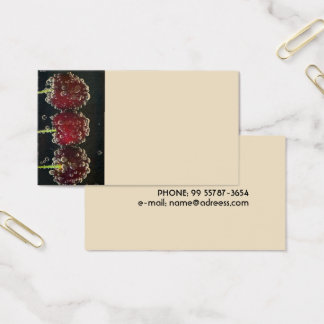 Red cherries in the water business card