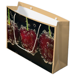 Red cherries in the water large gift bag