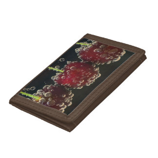 Red cherries in the water tri-fold wallets