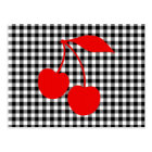 Red Cherries with Black Gingham Postcard