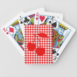 Red Cherries with Gingham Poker Deck