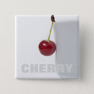 Red Cherry Berry 2 Inch Square Button