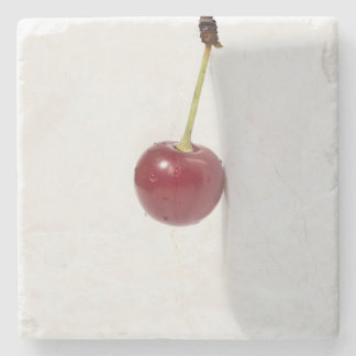 Red Cherry Berry Stone Coaster