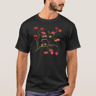 Red Cherry Blossoms up to 4x accent T-Shirt