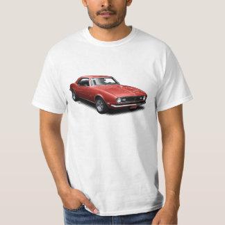 Red Cherry Bomb Camaro on White T-Shirt