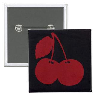 Red Cherry Brand 2 Inch Square Button