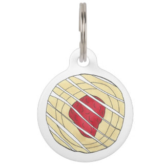 Red Cherry Danish Breakfast Pastry Junk Food Pet Tag