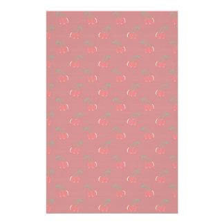 Red cherry pattern stationery