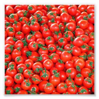 Red Cherry Tomatoes Pattern Photo Print