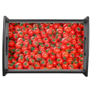 Red Cherry Tomatoes Pattern Serving Tray