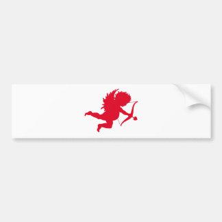 RED CHERUB SILHOUETTE.png Bumper Sticker