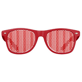 Red Chevron Blinds Party Sunglasses