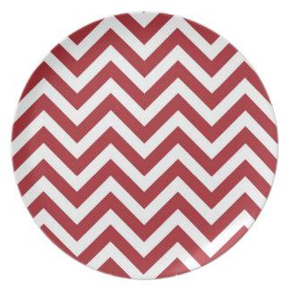 Red Chevron Plate