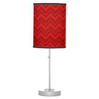 Red Chevron Table Lamp