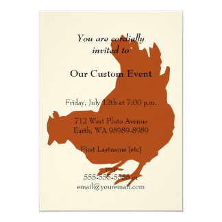 Red Chicken Hen Card