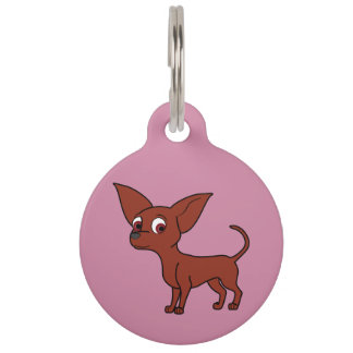 Red Chihuahua with Short Hair Pet Name Tag