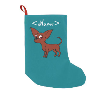 Red Chihuahua with Short Hair Small Christmas Stocking