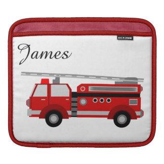 Red children fire truck iPad sleeve