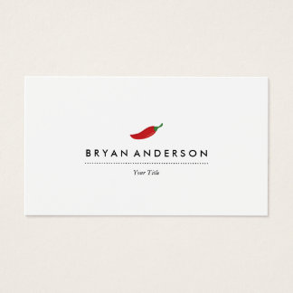 Red Chili Pepper Business Card