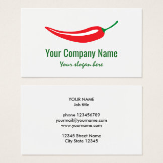 Red chili pepper company logo template business card