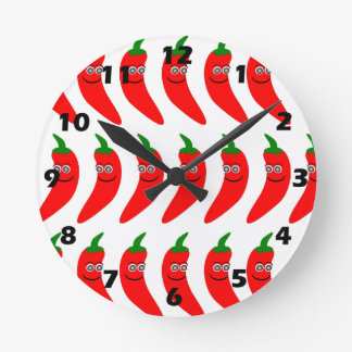 Red Chili Pepper Wall Clock