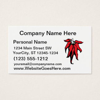 Red Chili Peppers On a String Graphic Business Card
