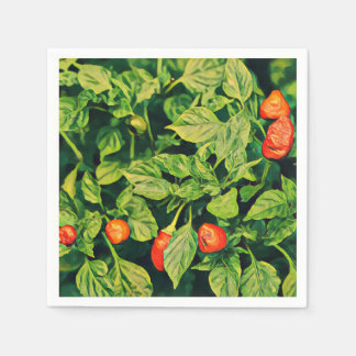 Red Chili Peppers Paper Napkin