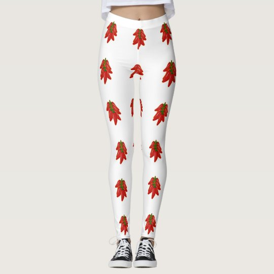 Red Chili Peppers Pattern Leggings
