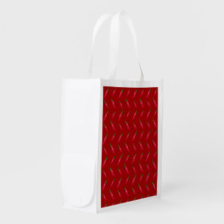 Red chili peppers pattern market tote