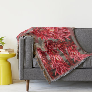 Red Chili Throw Blanket