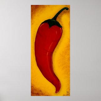 Red Chilli Pepper Art Print