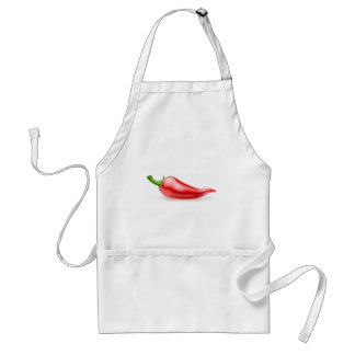 Red Chilli Pepper Illustration Standard Apron
