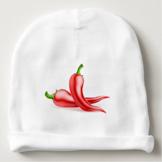 Red Chilli Peppers Illustration Baby Beanie