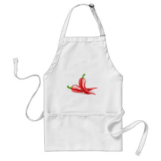 Red Chilli Peppers Illustration Standard Apron