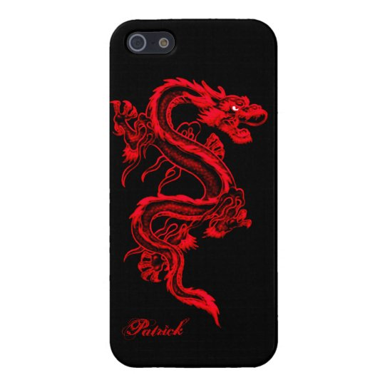 Red Chinese Dragon iPhone 5 Glossy Case iPhone 5 Covers