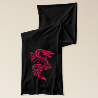 Red Chinese Dragon Scarf