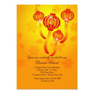 Red Chinese Lanterns Invitation