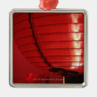 Red Chinese lanterns Metal Ornament