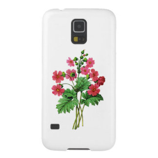 Red Chinese Primrose by Pierre Joseph Redoute Galaxy S5 Covers