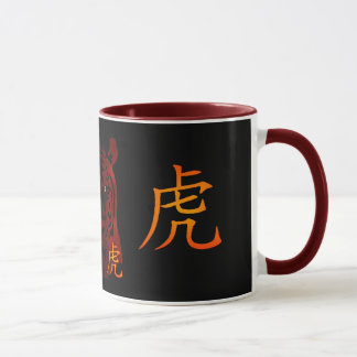 Red Chinese Tiger Mug