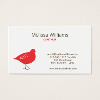 RED CHIRP Business Card