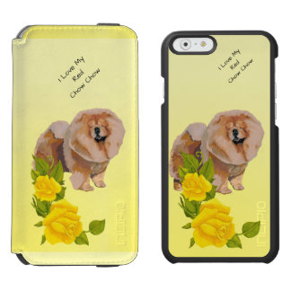 Red Chow Chow and Yellow Roses Incipio Watson™ iPhone 6 Wallet Case